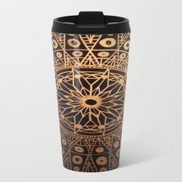 Black & Gold Mandala Travel Mug