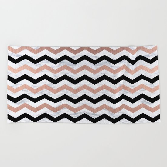 Luxury Trendy Chevron Beach Towel