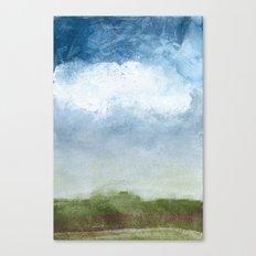 Foggy Bluff Canvas Print