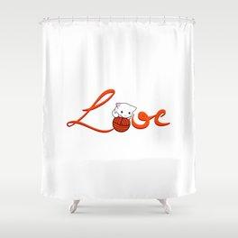 Love Cat Shower Curtain