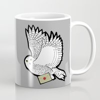 hedwig Mugs featuring Hedwig by AriesNamarie