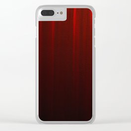 Behind the Red Curtain Clear iPhone Case