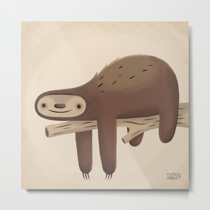 All in Good Time (Sloth) Metal Print