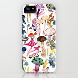 Mushroom Collection - b r i g h t s iPhone Case