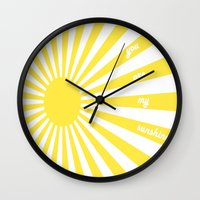 valentines Wall Clocks featuring Valentines by TLineInc