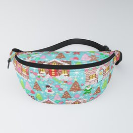 Gingerbread House Christmas Winter Candy, sweets.christmas gift, holiday gift for kids of all ages, Fanny Pack