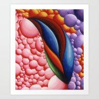 Colorful Bubble Land Art Print