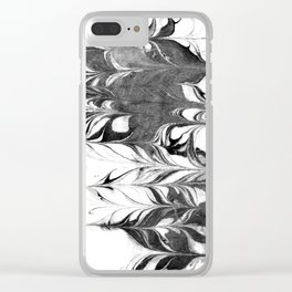 Marble Suminagashi 3 watercolor pattern art pisces water wave ocean minimal design Clear iPhone Case