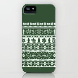 "Roll for Initiative Fair Isle in ""Evergreen"" iPhone Case"