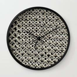 Silver net Wall Clock