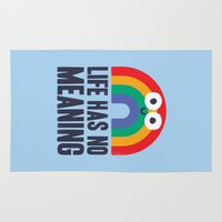 depression Area & Throw Rugs featuring Chaos Rains by David Olenick