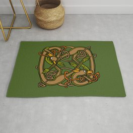 Celtic Hounds Knot One Rug