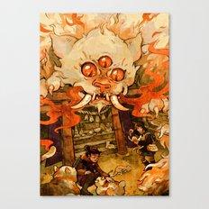 The Terror on Tashirojima Island Canvas Print