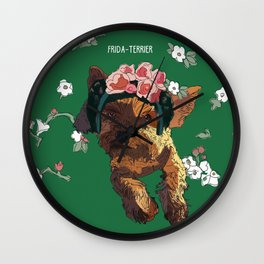 Frida-Terrier dog Wall Clock