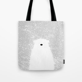 Its A Polar Bear Blinking In A Blizzard Tote Bag
