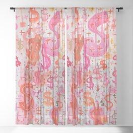 Barbie Money Sheer Curtain