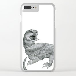 Aggressive Fantasy Creature Clear iPhone Case