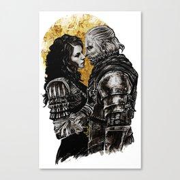 Geralt and Yennefer Canvas Print