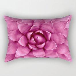 Succulent Magenta Pink Rectangular Pillow