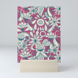 sarilmak pink blue Mini Art Print