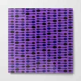 Purple Spoon Print! Metal Print