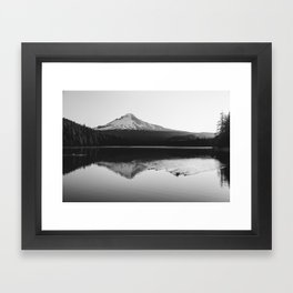 Wild Mountain Sunrise - Black and White Nature Photography Framed Art Print
