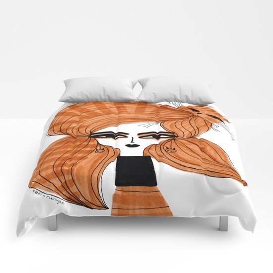 ORANGE TABBY HAIR Comforters