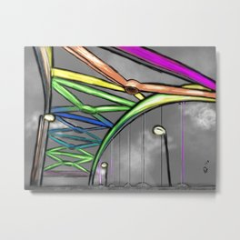 The Rainbow Bridge Metal Print