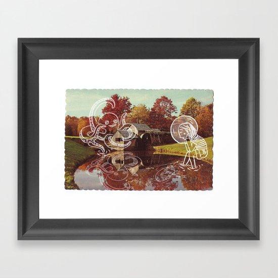 Old postcard Framed Art Print