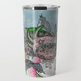 Girl with an Axolotl Bonnet Travel Mug