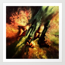 The Sandstorm Saints Art Print