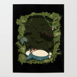 Sleeping with Snorlax Poster