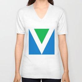Official Vegan Flag Unisex V-Neck