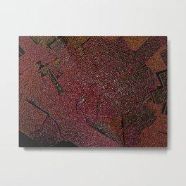 Frozen Paper Molasses Metal Print