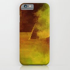 Abstract texture green and brown iPhone 6s Slim Case