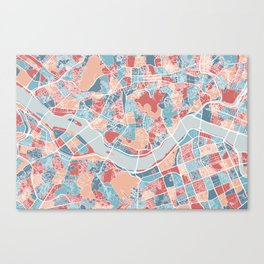 Seoul map Canvas Print