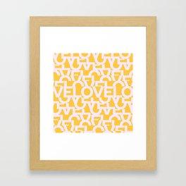 Hidden yellow LOVE message Framed Art Print