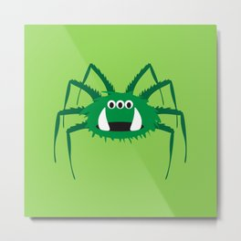 Itsy Bitsy Spider Norman Metal Print