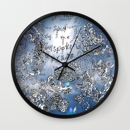 Everything that is Said on the Unspoken Plane Wall Clock