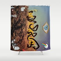 hollywood Shower Curtains featuring hollywood  by Edouard Campos