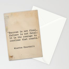 Churchill quote 9 Stationery Cards