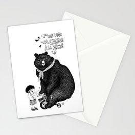 Nasty bear Stationery Cards