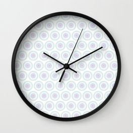 White Floral Industrial Manchester railways Wall Clock