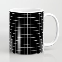 Windowpane Black Coffee Mug