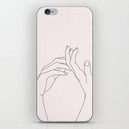 Hands line drawing illustration - Abi Natural iPhone Skin
