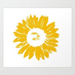 Sunflower Whimsical Bold Abstract Original Graphic Design Art Print
