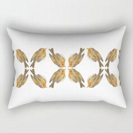Pisco - Robin bird illustration pattern Rectangular Pillow