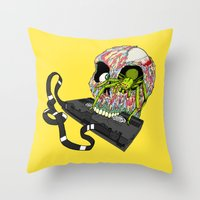 VHS Horror-Phobia by Cap Blackard Throw Pillow