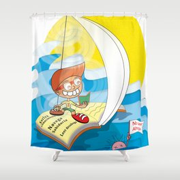 Reading saves lives Shower Curtain