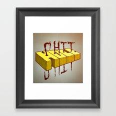 Shithole Framed Art Print